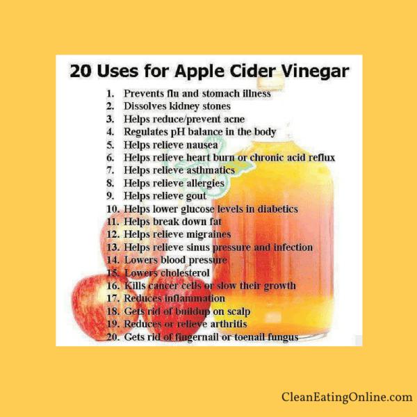 20 uses of apple cider vinegar