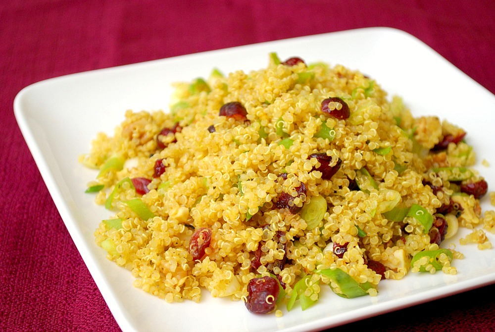 Curried Quinoa Salad with Cranberries & Walnuts - Clean ...